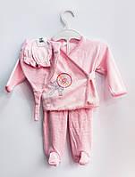 Трикотажный комплект Малышка (розовый), интерлок