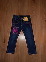 теплые джинсы на флисе для девочки от 2 до 4 лет