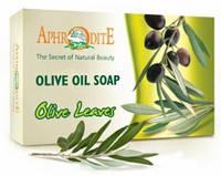 Натуральное оливковое мыло с листьями оливкового дерева, 125 г