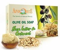 Натуральное оливковое мыло с маслом Ши и овсянкой, 125 г