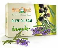 Натуральное оливковое мыло с лавандой, 125 г