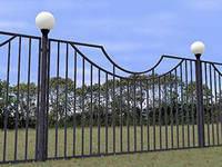 Забор простой металлический сварной( в зависимости от рисунка, проекта)