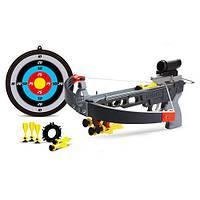 Игрушечное оружие Арбалет М 0011, мишень, дротики с присосками, коробка 25х43х6,5 см