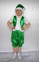 Детский новогодний карнавальный костюм для мальчика Эльф зеленый от 3 до 7 лет