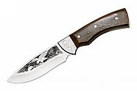 Нож охотничий Орел, с рисунком, с кожанным чехлом, ножи для охоты, нож охотника, амуниция охотника, ножи