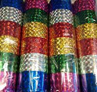 Скотч декоративный голограмма MIX 012-10-С (ширина 12мм, длина 10м) 6цветов уп12