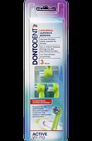 DONTODENT Wechselköpfe Active Young, 3 St - Сменные насадки для детской зубной электрощетки, 3 шт.