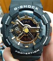 Casio G-Shock GA 110 черный с золотом black gold 01