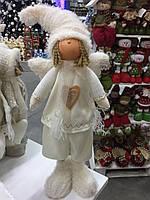 Мягкая игрушка Ангелочек - мальчик (стоячий)15*10*50 Игрушки под елку., фото 1