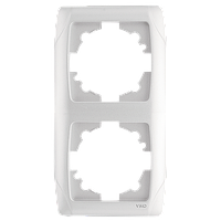 Рамка на 2 поста, вертикальная (белый)  Viko Carmen