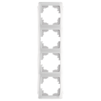 Рамка на 4 поста, вертикальная (белый)  Viko Carmen