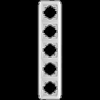 Рамка на 5 поста, вертикальная (белый)  Viko Carmen
