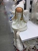 Игрушка мягкая Ангел - девочка (сидячий).Новогодний декор. Игрушки под елку., фото 1