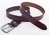 Женский узкий кожаный ремень ( коричневый ), фото 3