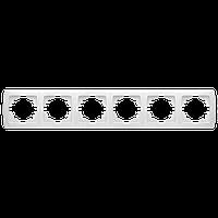 Рамка на 6 поста, горизонтальная (белый)  Viko Carmen