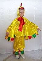 Детский новогодний костюм для мальчика Петушок  жёлтый от 3 до 7 лет