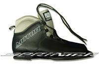 """Классические беговые лыжные ботинки """"Motor Сlassic"""" из натуральной кожи на подошве 0075Н."""
