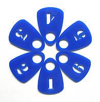 Номерки для гардероба синие