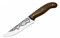 Нож охотничий Рыбацкий 1 с рисунком окуня, с чехлом из кожи, ножи для охоты