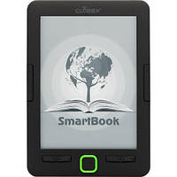 "Электронная книга 6"" Globex SmartBook Black 1024×758, подсветка, 4Gb, Wi-Fi, 1500 mAh, + чехол"