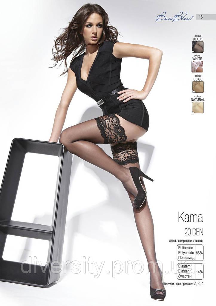 Чулки с широкой резинкой Kama BB 20 den 3-M, черный
