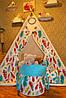 """Детский игровой домик, вигвам, палатка, шатер, шалаш """"Перья"""""""