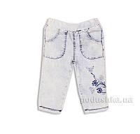 Капри джинсовые для девочки с вышивкой Gloria Jeans 39174 98