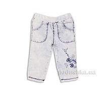 Капри джинсовые для девочки с вышивкой Gloria Jeans 39174 122