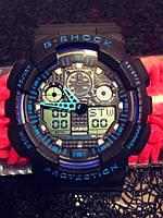 Casio G-Shock GA 100 черный с синим black blue