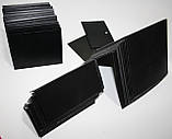 Ценник меловой 5х7 см L-образный для надписей мелом и маркером грифельный. Крейдовій чорний цінник, фото 5