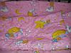 Детское постельное бельё 3 элемента розовые