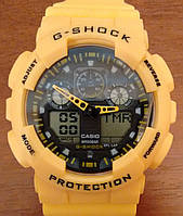 Casio G-Shock GA 100 желтые yellow