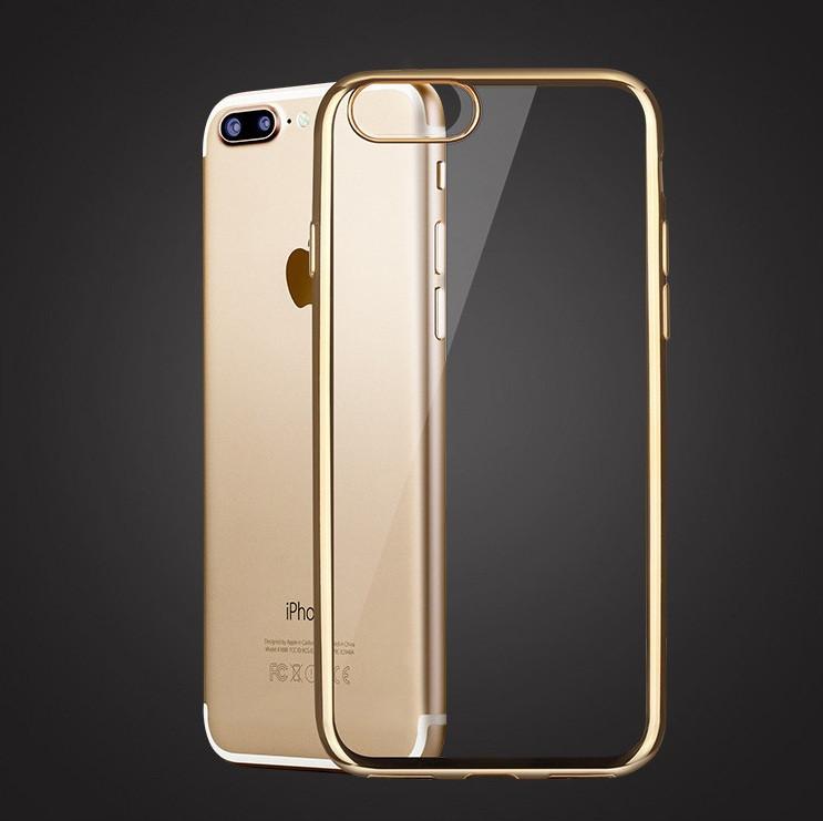 Чехол для iPhone 7 Plus силиконовый с цветным ободком