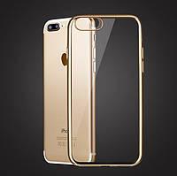 Чехол для iPhone 7 Plus силиконовый с цветным ободком, фото 1