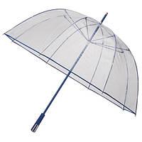 RD2.8057 Зонт трость прозрачный большой синий