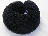 """""""Бублик"""" для волос,на кнопках,черный"""