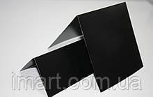 Ценник меловой 5х10 см V-образный двухсторонний для надписей мелом и маркером грифельный. Черный