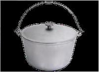 КО400Т Казан походный алюминиевый литой с крышкой и дужкой 4л