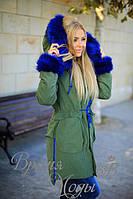 Куртка-пальто, парка. Хаки. 4 цвета
