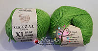 Пряжа Бэби вул XL Baby Wool XL Gazzal, 821, салат