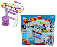 Детский синтезатор с микрофоном и стульчиком 7235 АВ,КК
