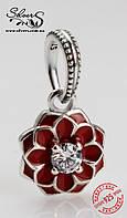 """Серебряная подвеска-шарм Пандора (Pandora) """"Восточный цветок"""" для браслета"""