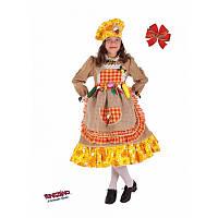 """Детский карнавальный костюм для девочки """"Осень"""" 7 лет ТМ Veneziano 5074"""