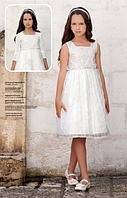 Нарядное платье со стразами, болеро и обруч для девочки от 7 до 14 лет р. 122-164 ТМ Les Gamins 3185