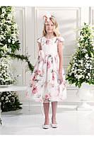 Нарядное платье, болеро и ободок для девочки 7-14 лет р. 122, 158, 164 ТМ Les Gamins CF 503232B\R