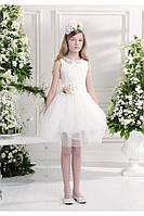 Нарядное платье, болеро и ободок для девочки 9-10 лет р. 134-140 ТМ Les Gamins 504455R