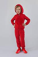 Спортивный утепленный костюм для девочки 3-6 лет (толстовка+брюки) ТМ Модный карапуз (коралл) 03-00613