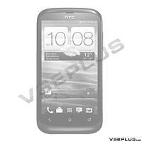 Задняя крышка HTC T328w Desire V, черный, high copy
