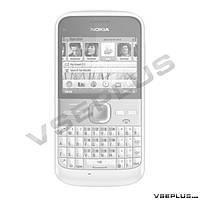 Корпус Nokia E5-00, черный, high copy