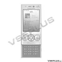 Корпус Sony Ericsson W705, черный, high copy